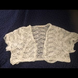 White lace coverup for dress